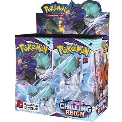 AU175 • Buy POKEMON Chilling Reign Booster Box - Factory Sealed