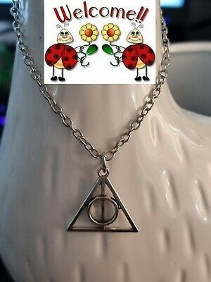 AU4 • Buy  New!! Harry Potter Deathly Hallows Silver Necklace