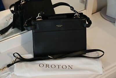 AU139 • Buy Oroton Forte Large Tote Black Leather Great Condition
