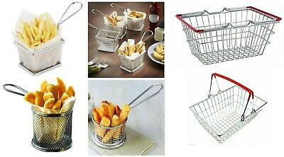 £7.90 • Buy Stainless Steel Fries Mini Chips Food Fryers Potato Serving And Shopping Basket