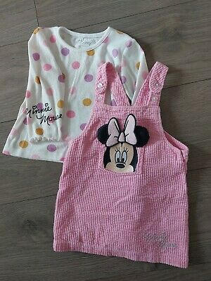 £1.99 • Buy Disney Primark Baby Girl Dress And Pinafore Minnie Mouse 12-18 Months Pink
