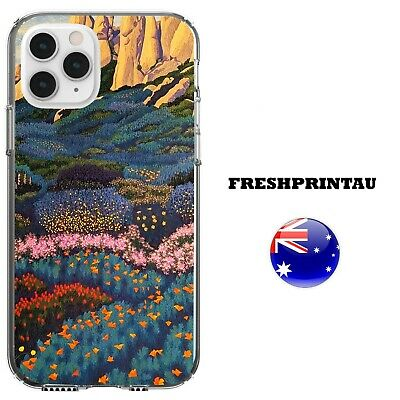 AU16.99 • Buy Case Cover Silicone Floral Rose Tulip Landscape Oil Painting Mountain Butterfly