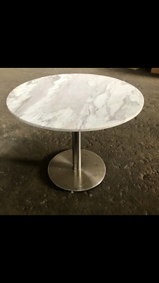 AU550 • Buy Round Marble Top Dining Table With Stainless Steel Base