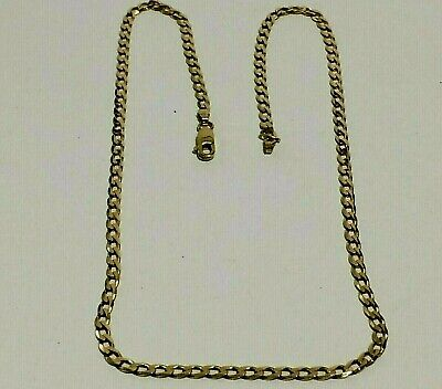 £174.99 • Buy Vintage 9 Ct Yellow Gold Flat Link Curb Neck Chain, 5.80.grams, London.1988