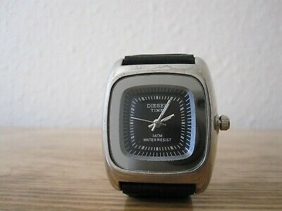 £15 • Buy Diesel Time Black And Silver Face Watch