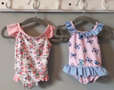 £1.10 • Buy Baby Girl Clothes 2 Frilly One Piece Swimming Costume Swimwear 0-3 Months