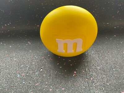 $3.50 • Buy M&M's World Candy Yellow Round Dispenser - USED