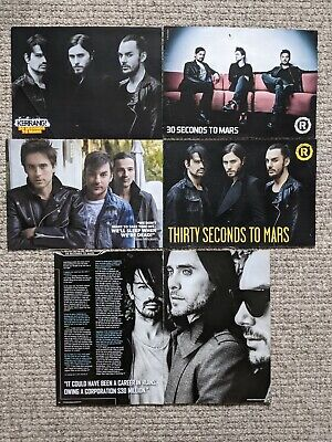 £6 • Buy 30 Seconds To Mars - Magazine Cuttings/clippings And Posters X 20