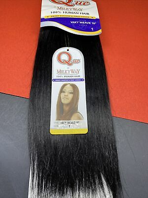 $20 • Buy Milkyway 100% Human Hair Que_yaky Weave Remy_10 _#1
