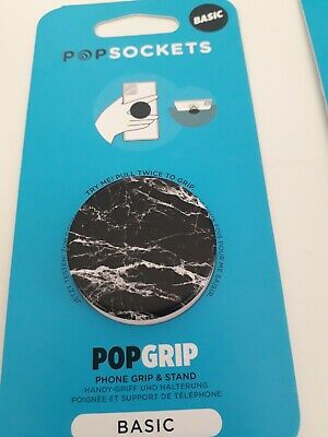 AU8.30 • Buy PopSockets PopGrip Mobile Phone Stand - MARBLE - Black &white