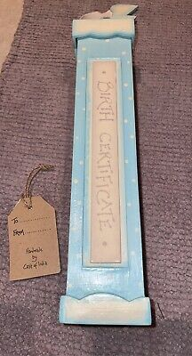 £2.50 • Buy East Of India Birth Certificate Holder New With Tags
