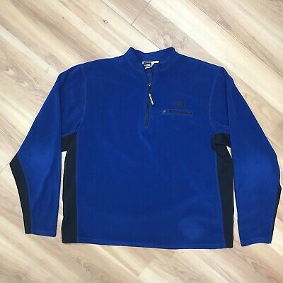 £34.36 • Buy Vintage 90s The North Face Lightweight Fleece Base Layer Shirt Mens XL USA Made