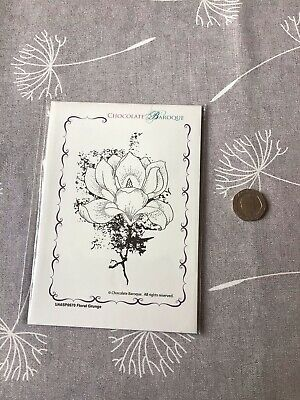 £2.10 • Buy Chocolate Baroque Unmounted Rubber Stamp - Floral Gunge