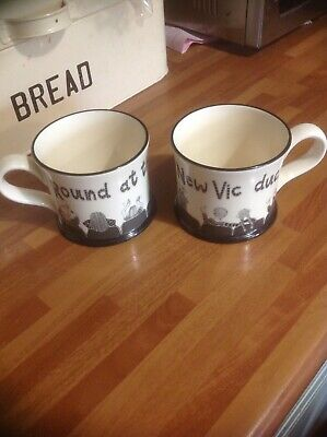 £15 • Buy 2 Moorland Pottery Mugs. No Boxes. Round At The New Vic Duck