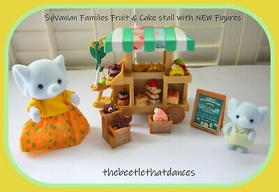 £29 • Buy Sylvanian Families Decorated Sweet/Cake/Fruit Stall With NEW Elephant Figures