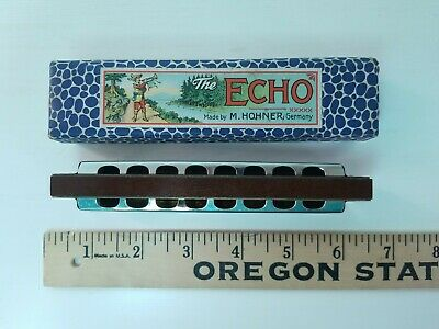 $33 • Buy VTG The Echo Harp Harmonica By M. Hohner In Original Box Made In Germany NO STAR