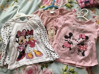 £1.70 • Buy Girls Spring / Summer Tshirt Bundle. Age 12-18 Months Minnie Mouse