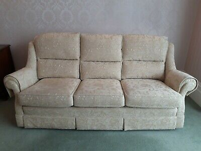 £120 • Buy Excellent Condition Cream Ivory 3 Piece Suite 3 Seater Sofa And 2 Armchairs