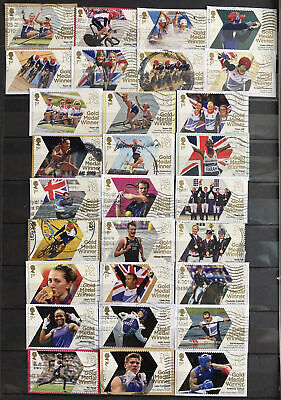 £0.99 • Buy 2012 British Gold Medal Winners London Olympic Games Full Used Stamp Set Of 29