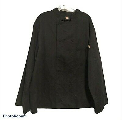 $14.36 • Buy Dickies Chefs Coat Black Mens XL Bleach Stained