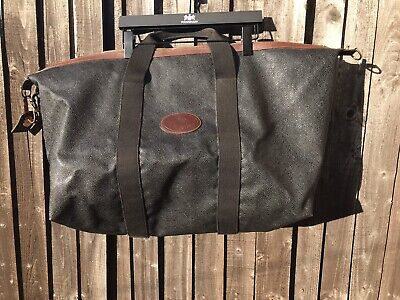 £479.49 • Buy VINTAGE MULBERRY SCOTCH GRAIN LARGE WEEKEND/HOLDALL BAG & MULBERRY WASHBAG. Used