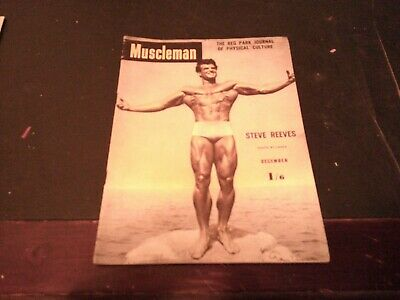 £5.37 • Buy Dec 1952 Muscleman Magazine The Reg Park Journal Steve Reeves On The Cover