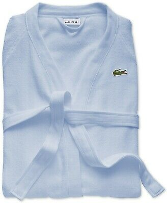 $94.99 • Buy Lacoste Men's Sky Blue 100% Cotton Classic Terry Bath Robe With Belt NWT $295