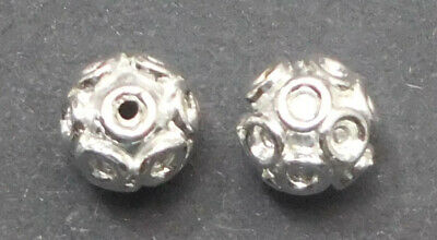 $ CDN4.99 • Buy 16 Pcs 8mm Solid Copper Bali Bead Sterling Silver Plated 754 Ban-477
