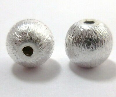 $ CDN4.99 • Buy 28 Pcs 8mm Spacer Brushed Ball Beads Sterling Silver Plated  Abn-699