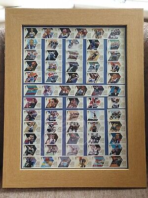 £65 • Buy London 2012 Olympic & Paralympic GB Gold Medal Winner Royal Mail Stamps Framed