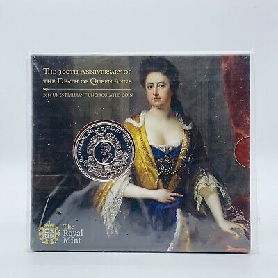£99.50 • Buy 2014 Royal Mint Queen Anne Brilliant Uncirculated £5 Coin Original Sealed Pack