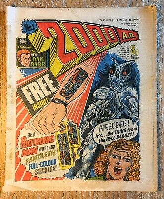 £29 • Buy 2000AD Prog 2 March1977 - 1st Appearance Of Judge Dredd- With Stickers - Good