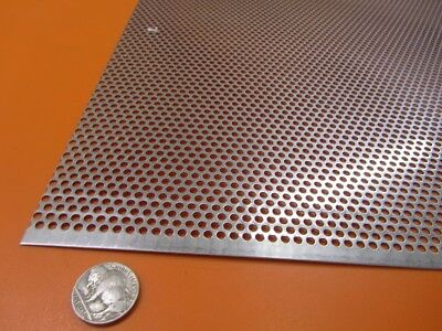 £77.31 • Buy Perforated 304 Stainless Steel Sheet .030  Thick X 24  X 24 , .125  Hole Dia.