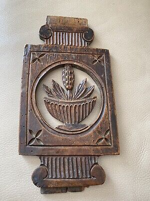 £49.83 • Buy Antique French Carved Panel Wood Wooden Wheat Bakery 1880s 1890s 19th Century