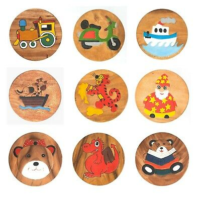 £23.50 • Buy Assorted Fairtrade Painted Child's Kids Children Painted Novelty Wooden Stool 2