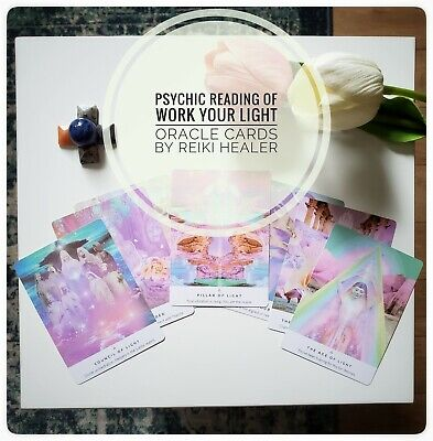 £5 • Buy Psychic Tarot Reading, Online. Work Your Light Oracle Cards Read By Reiki Healer