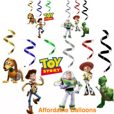 £4.99 • Buy Toy Story Happy Birthday Party Hanging Swirl Banner Bunting Decorations Set Of 6