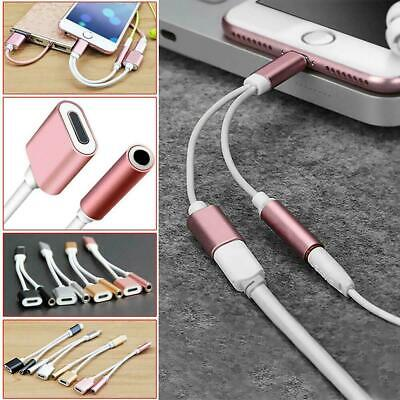 £2.99 • Buy 2in1 3.5mm Headphone Jack AUX Audio Splitter Adapter Cable For IPhone 12 XR 8 11