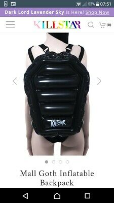£20 • Buy Killstar Black Inflatable Coffin Backpack X-large Cute Gothic Witchy Pvc Bag