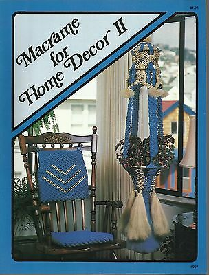 $10.75 • Buy Macrame For Home Decor Vol 2 Vintage Pattern Instruction Book NEW 1978