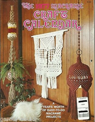 $8.78 • Buy 1977 Macrame Craft Calendar Vintage Pattern Book NEW Plant Hangers Easy To Do