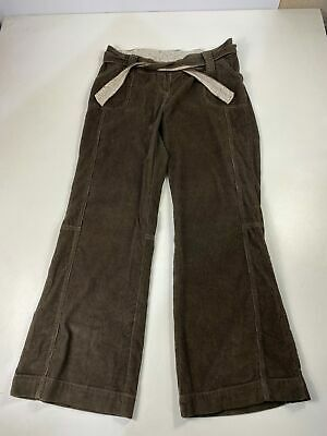 £12.49 • Buy Bnwt Womens Moda Mothercare Uk 12 Brown Corduroy Belted Maternity Cargo Trousers