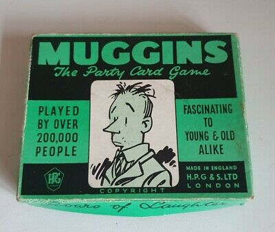 £8 • Buy VINTAGE MUGGINS THE PARTY CARD GAME H.P.G & S LTD LONDON From 1950's