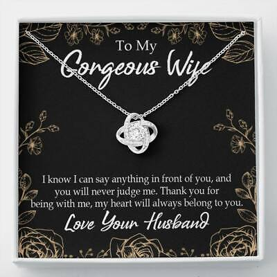 £36 • Buy To My Wife Thank You For Being With Me Wife Infinity Knot Necklace Keepsake Mess