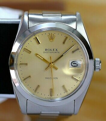 $ CDN7408.33 • Buy Rolex 6694 Oyster Date  Champagne Dial Manual Winding 100%  Authentic Watch 1987