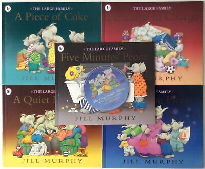 £12.95 • Buy THE LARGE FAMILY COLLECTION 5 Books Plus Story CD With Music Jill Murphy In Case