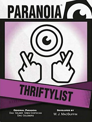 £11.06 • Buy Paranoia Rpg: Thriftylist Card Deck (US IMPORT) ACC NEW