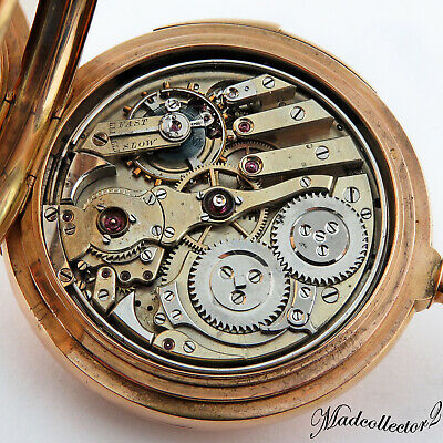 £5827.26 • Buy LeCoultre &Co 14K Gold Top Grade Minute Repeater Jeweled Hammers HC Pocket Watch