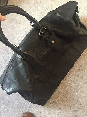 £50 • Buy Premier League Coca Cola Dual Branded Black Leather Travel Bag - New Without Tag