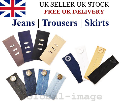 £2.65 • Buy Waist Band Extender Trousers Skirt Maternity Expander Jeans Elastic Collar Cuff